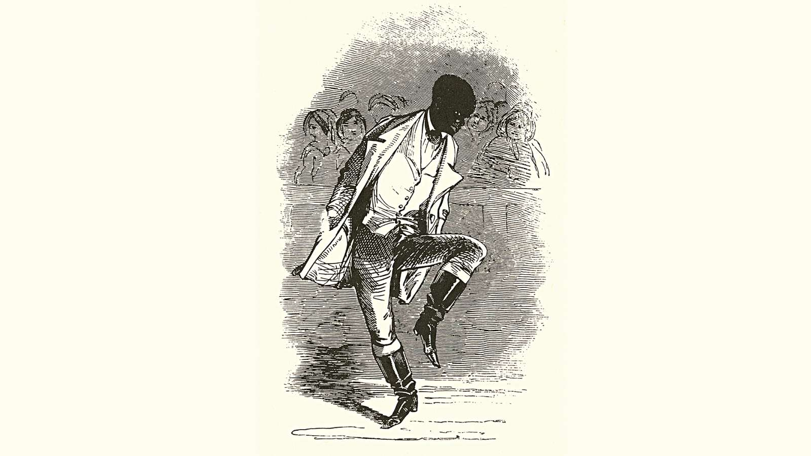 "An illustration of William Henry Lane aka ""Master Juba"", from the Illustrated London News, 5 August 1848"