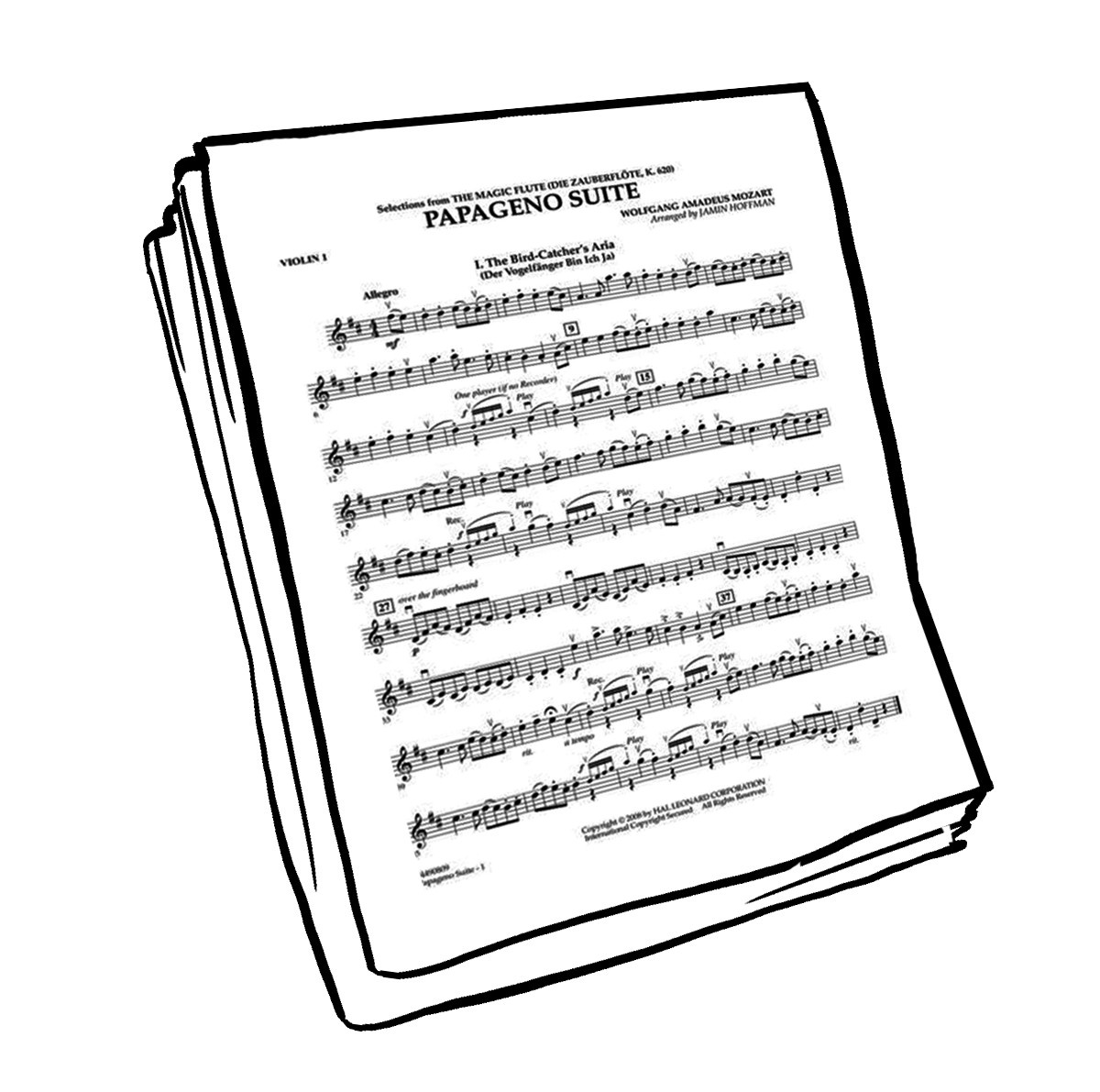 piece of music named Papageno by Mozart