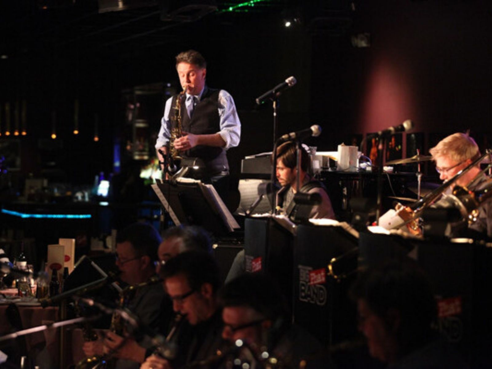 Gordon Goodwin with his Big Phat Band