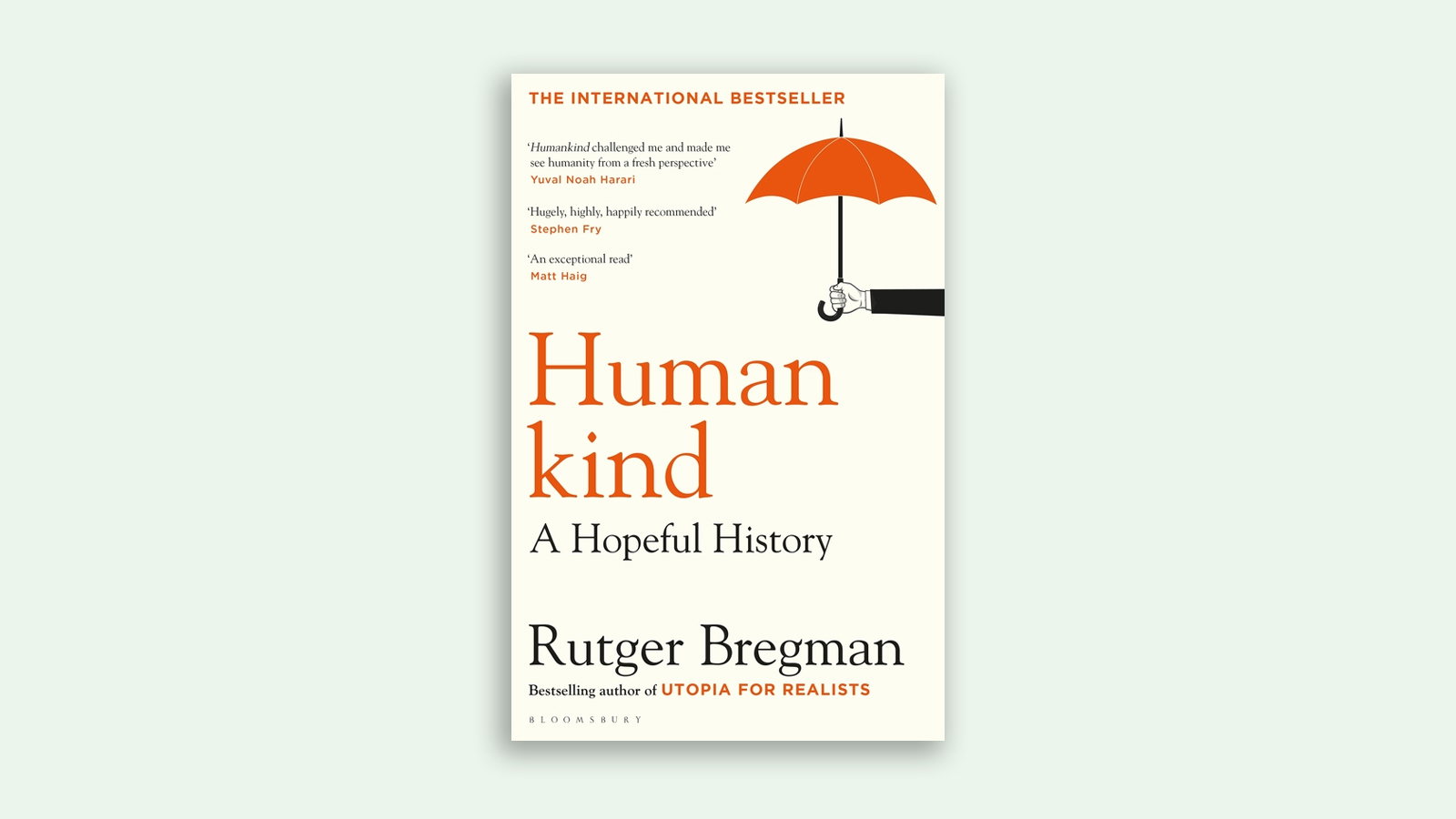 The book cover for Humankind by Rutger Bregman